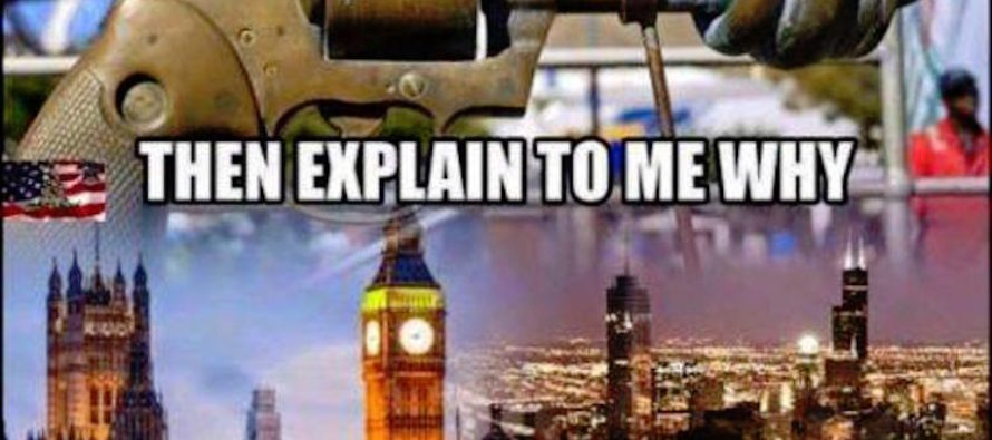 Meme SHATTERS Liberals Who Say Gun Control Works
