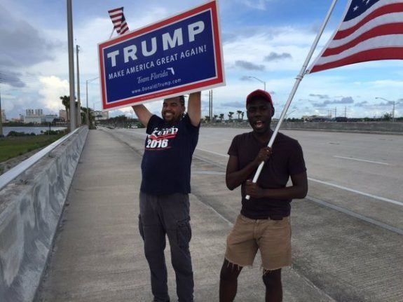 Trump great support