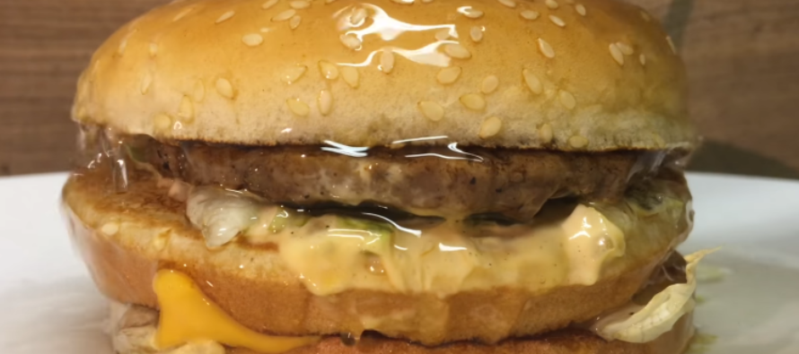 VIDEO: This is what happens if you pour sulphuric acid on a Big Mac