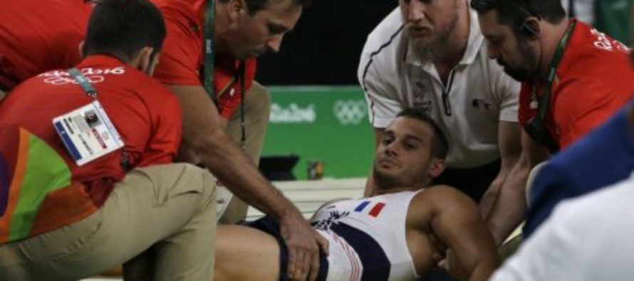 GRAPHIC: SNAP Heard As French Gymnast's Leg Points Wrong Direction! [VIDEO]
