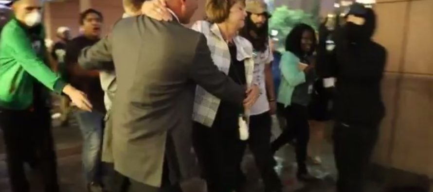 Violent leftist Clinton supporters caught spitting on and attacking people