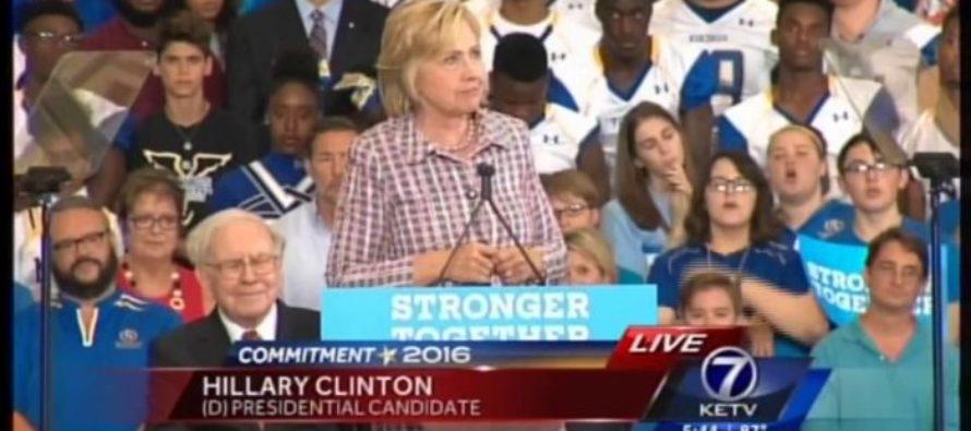 VIDEO: Hillary Announces She Will RAISE TAXES on Middle Class – Crowd Responds IMMEDIATELY