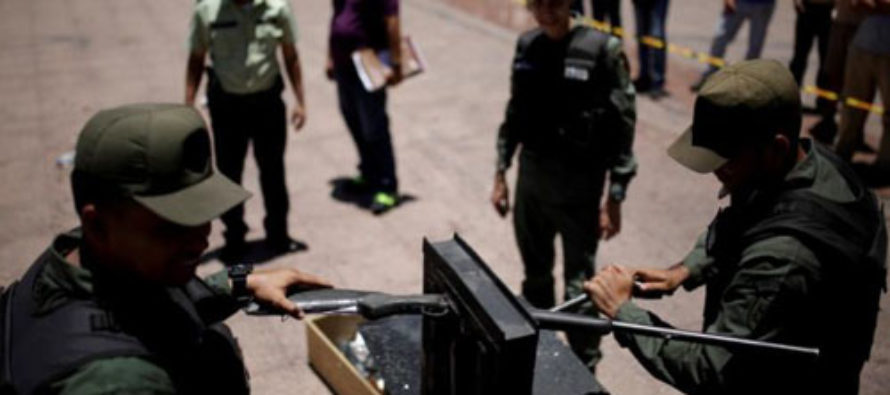 Venezuelan Responds to Economic and Societal Collapse by Theatrically Destroying Guns