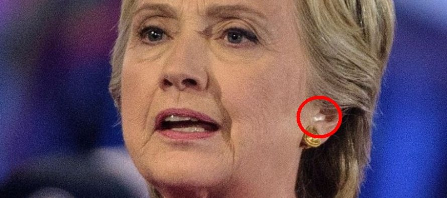 Look Closely: Was Hillary's Earring an Earpiece Last Night During Presidential Forum?