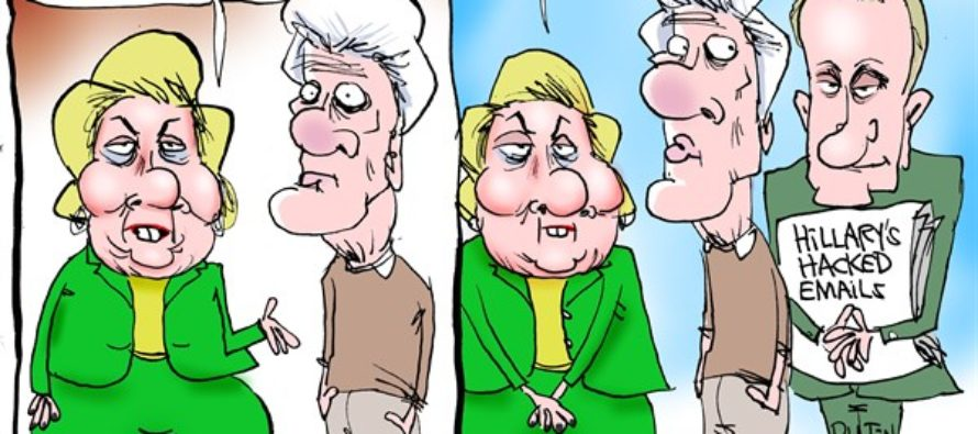Putin And Hillary (Cartoon)