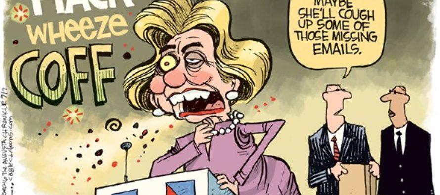 Hillary Coughs (Cartoon)