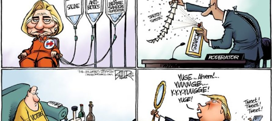 Debate Preparations (Cartoon)