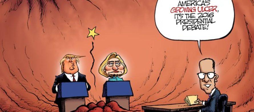 The First Debate (Cartoon)