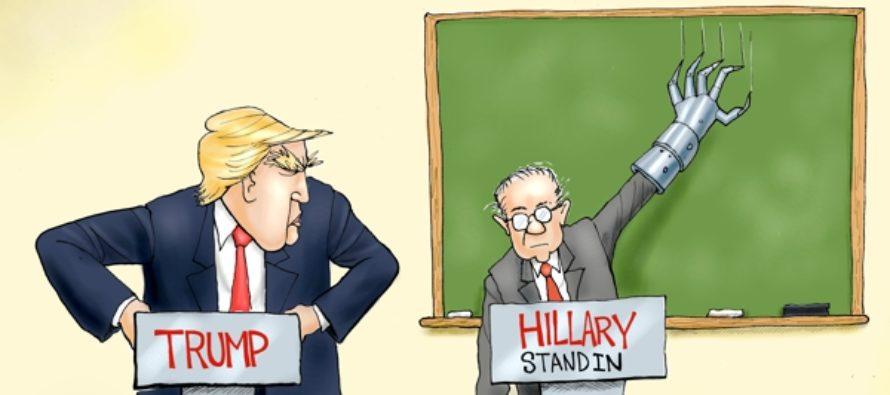 Trump Ready For Hillary? (Cartoon)