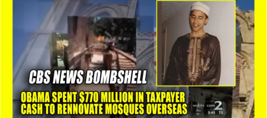 OUTRAGE! Obama Spends $770M Dollars In Tax Payer Money To Renovate Mosques Over Seas… [VIDEO]