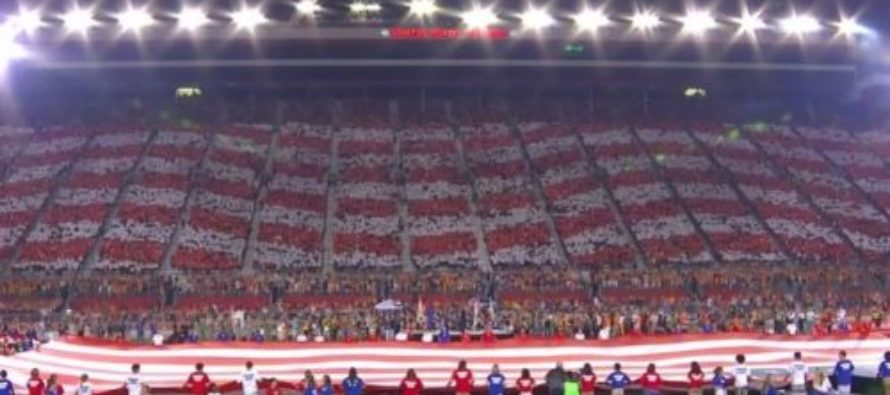 Americans Send THUNDEROUS Message During National Anthem At College Football Game [VIDEO]