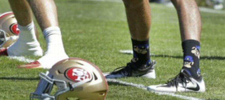 Colin Kaepernick BLATANTLY Wears Anti-Cop Designed Socks – Police Respond.