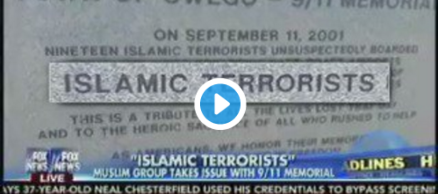 Muslims Demand That Town Drop The Words 'Islamic Terrorists' from 9/11 Monument