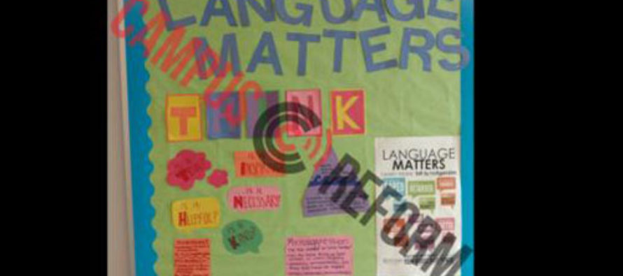 Bulletin Board in Rutgers Residence Hall Battles Microaggressions