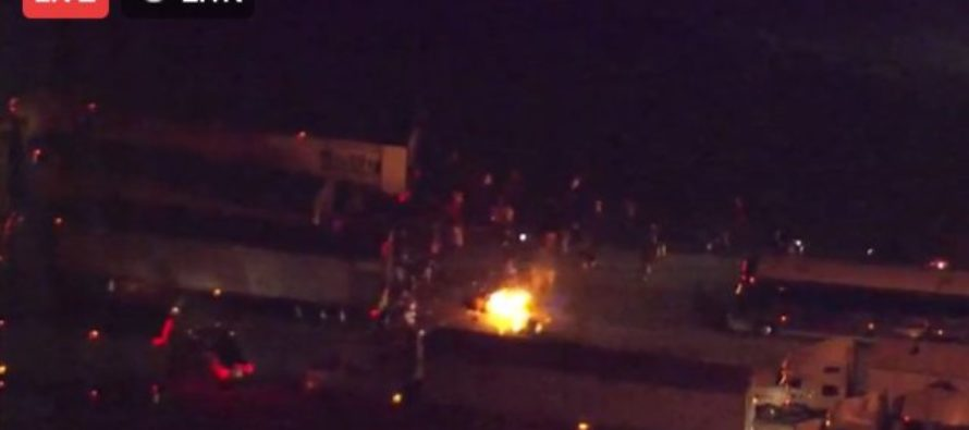 CHAOS! NC Protest MOB Ambushes Female Truck Driver, Loots Truck, Sets Cargo On Fire – No One Helps!? [VIDEO]
