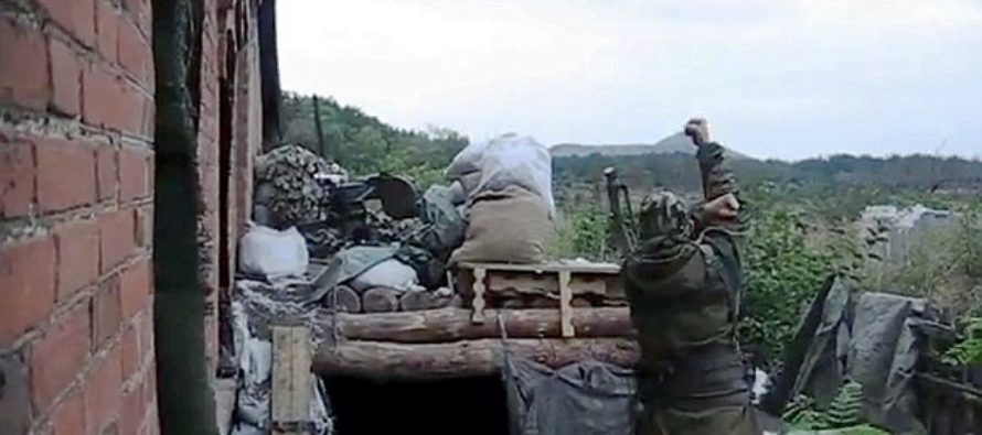 VIDEO: Ukrainian Soldiers Filmed Using CATAPULT To Lob Grenades At Russian Forces?!