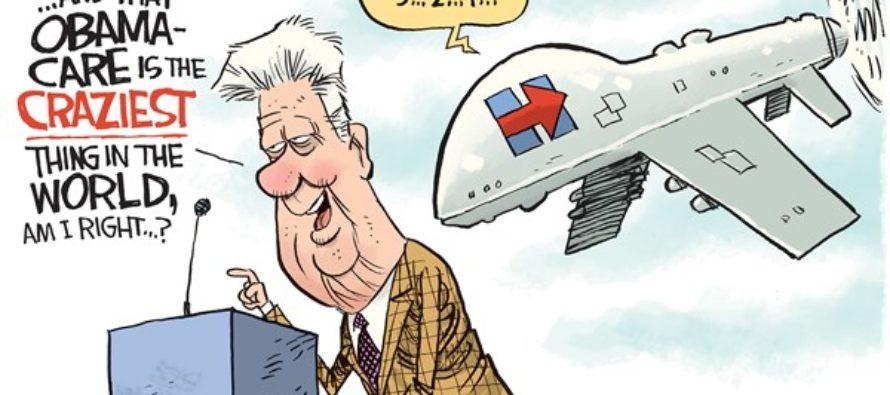 Hillary Drones Bill (Cartoon)