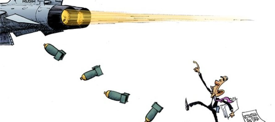 Bombardeo en Siria (Cartoon)