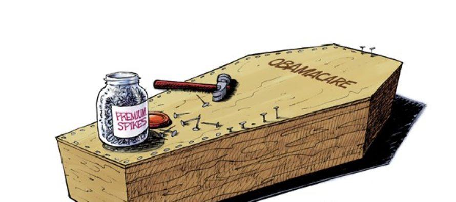 Health Care Coffin (Cartoon)