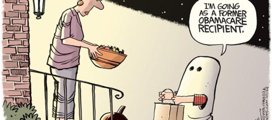 Obamacare Ghost (Cartoon)