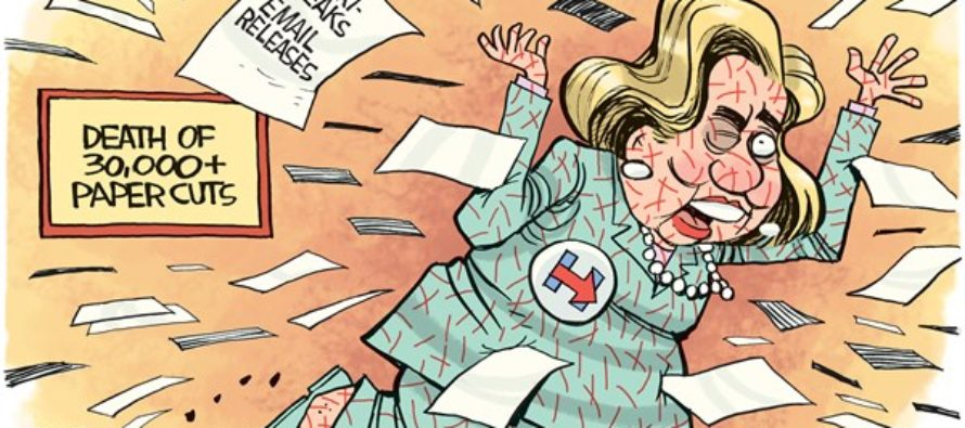 Hillary Paper Cuts (Cartoon)