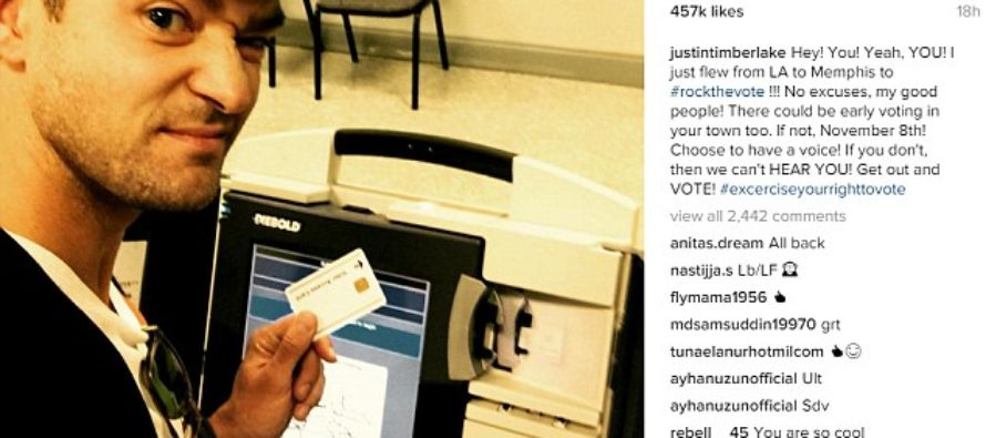 Clinton Supporter, Justin Timberlake Takes ILLEGAL Voting Booth 'Selfie', And Could Face Charges.