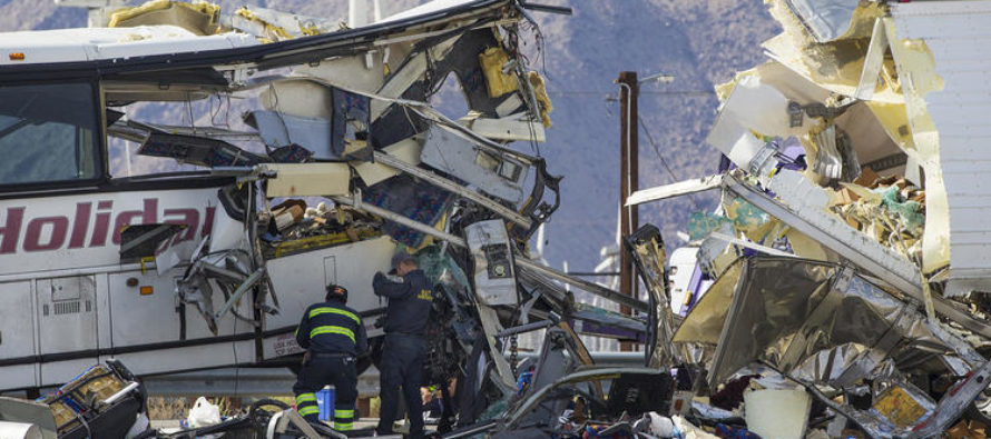 Tragedy in California: At Least 13 Dead In Tour Bus Crash On Interstate 10 [VIDEO]