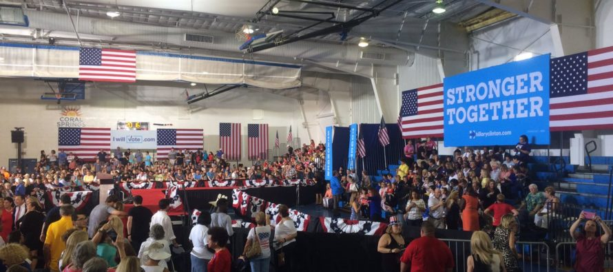Clinton Caught Bussing Supporters Into Small PA Rally