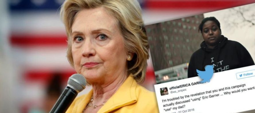 HUGE! Erica Garner LEVELS Clinton Campaign For Using Her Dad To Push GUN CONTROL