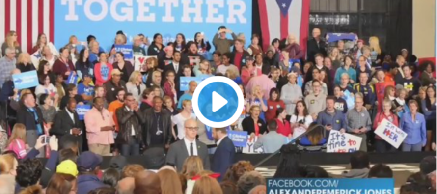 Something STRANGE Noticed at Hillary Rally – Crowd Being Instructed… [VIDEO]