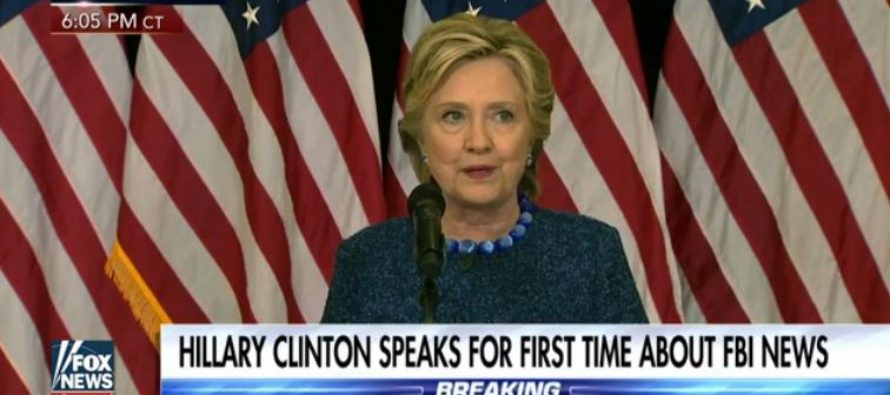 Hillary Has Press Conference Regarding FBI Reopening Case – Only To Get Caught In ANOTHER LIE!