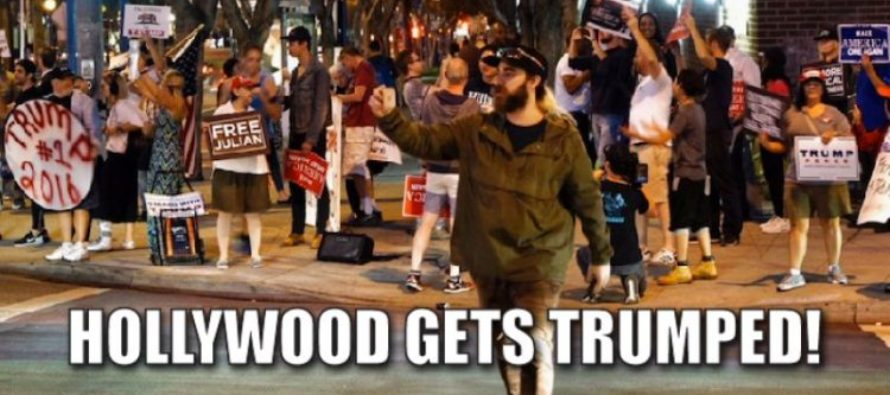 Trump FLASH MOB storms Hollywood, no one hurt because Hillary didn't know