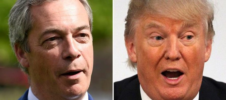 Donald Trump's comments defended by Nigel Farage like they're bosom buddies [VIDEO]
