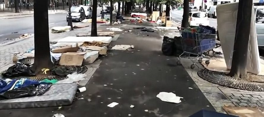 Remarkable VIDEO Shows Once-Romantic Paris Covered In Filth And Rubbish Left Behind By Migrants…