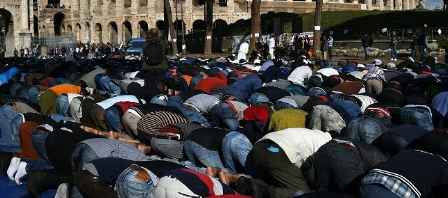 CONQUER:  Thousands Of Muslims Protest In Rome Chanting Allahu Akbar!