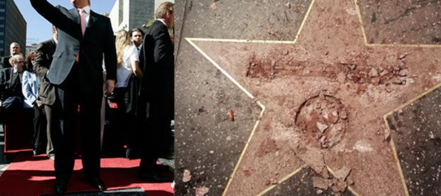 Trump's Hollywood Walk of Fame Star VANDALIZED in Chilling Way… [PHOTOS]