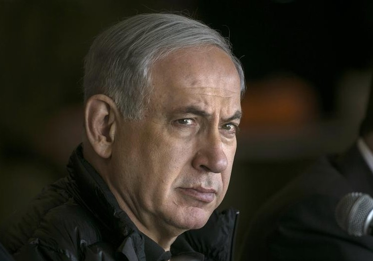 Israel's Prime Minister Benjamin Netanyahu visits the Israeli army's training base complex near the southern city of Beersheba