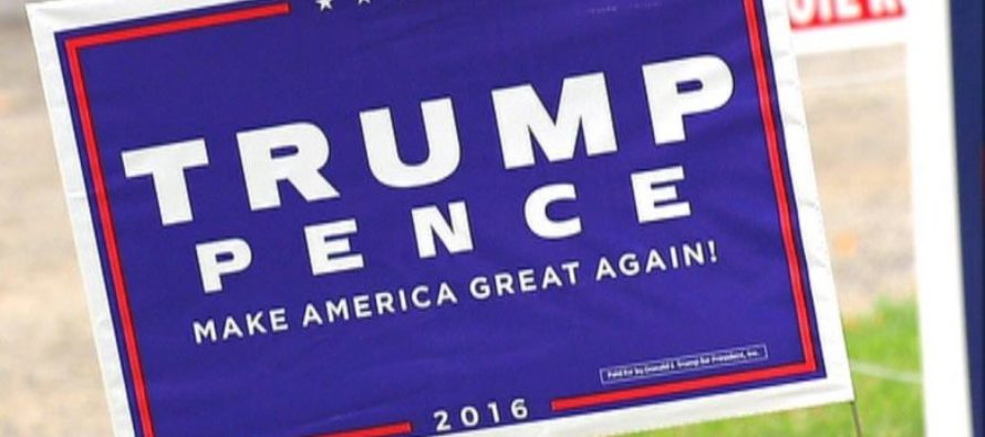TRIGGERED Lefties Steal Trump/Pence Signs, Police Officer Pulls Up With REALITY CHECK! [VIDEO]