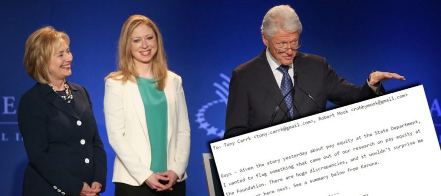HYPOCRITE! Gender Pay GAP REAL In Clinton Foundation!
