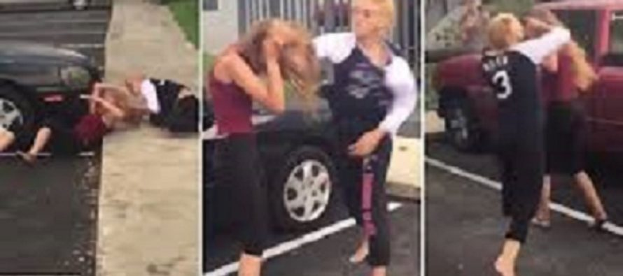 Florida Woman Takes A Swing At Neighbor On The Phone…NOT A Good Idea [VIDEO]