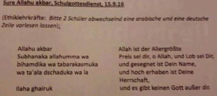 """OUTRAGE: School Children Being Taught To Chant Islamic Prayers – Including Phrase """"Allah Akbar"""""""
