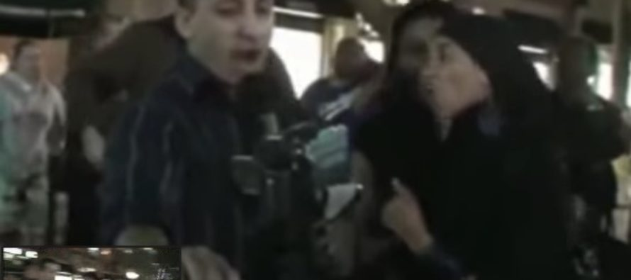 Two savage Muslim women attack Christian Preacher [VIDEO]