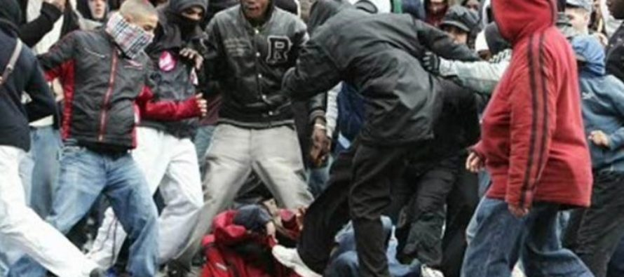 MESSED UP!!!  Masked Muslims organize attack on American teens