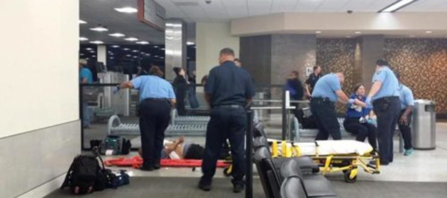 Horrifying Cam Footage Of Deranged Man Attacking TSA Worker, With A MACHETE! [VIDEO]