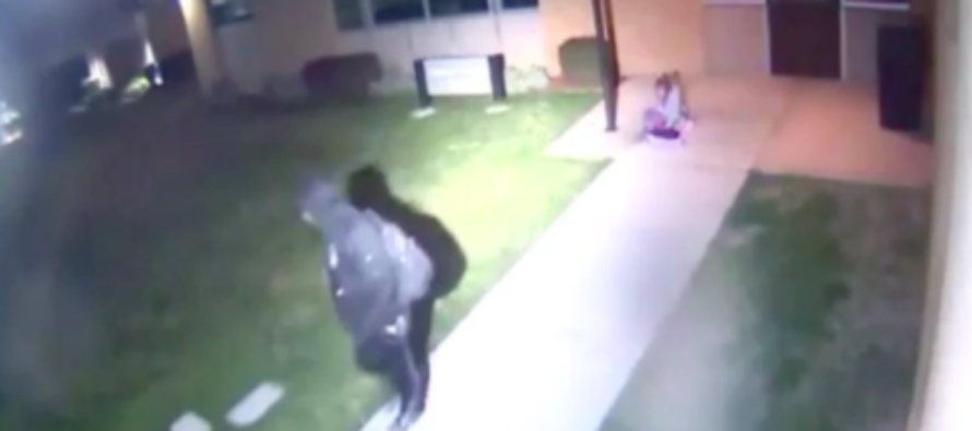 VIDEO Reveals Father DUMPING Scared 5 Yr-Old Daughter On Campus Porch At 5 Am With Nothing More Than A Blanket!