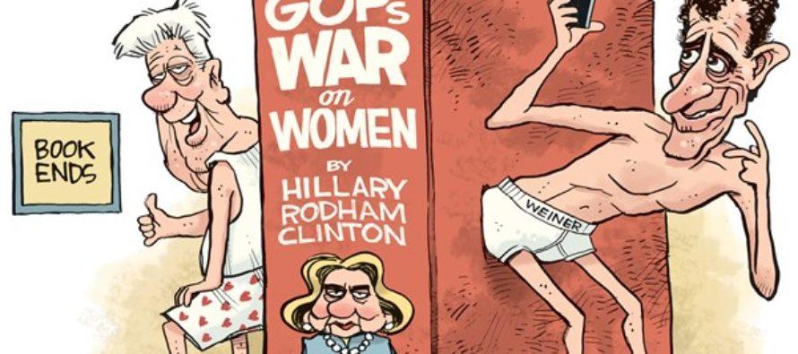 Hillary Book Ends (Cartoon)