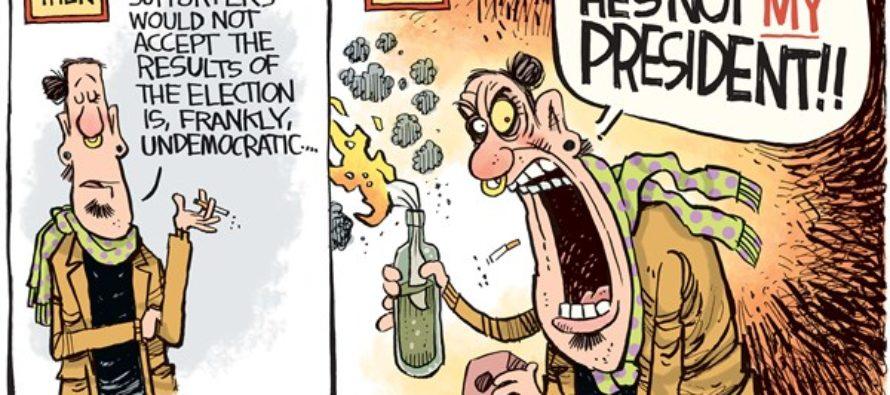 Trump Riots (Cartoon)
