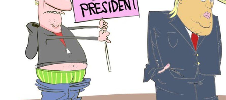 Not My President (Cartoon)