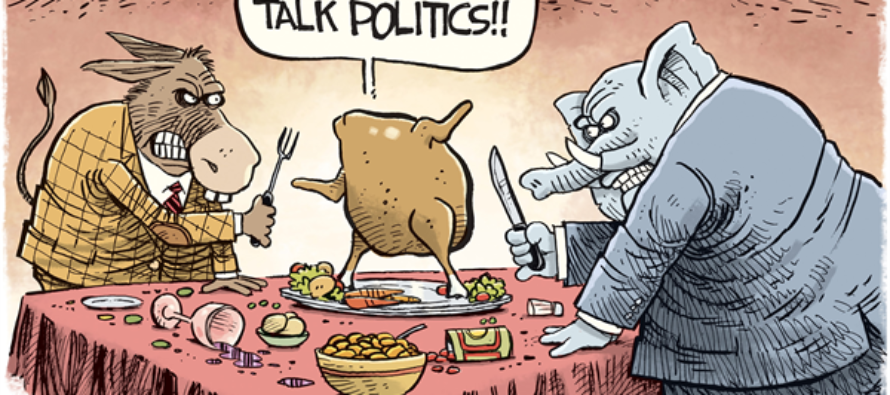 Thanksgiving Fight (Cartoon)