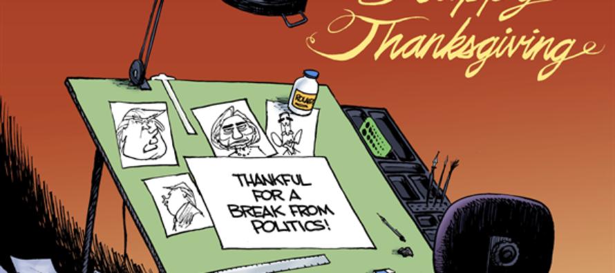Giving Thanks (Cartoon)